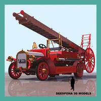dennis vintage firefighter truck max