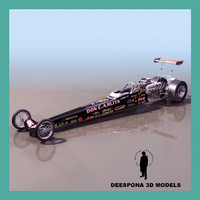 3d racing rear engine dragster model