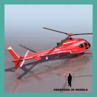ecuriel french helicopter 3d max