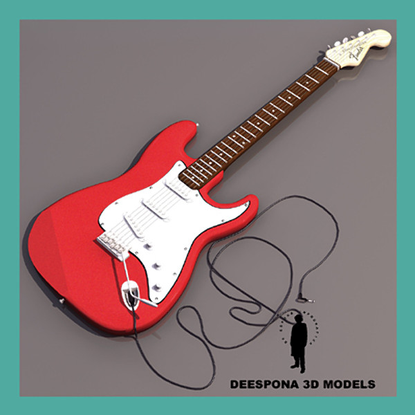 fender stratocaster electric guitar 3d model - Fender Stratocaster Electric Guitar... by De Espona