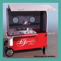 3ds max ice cream troley cart