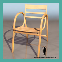 3d model jacobsen wooden chair
