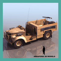 3d model long range desert group