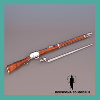3d model of martini henry peabody british