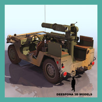 M151 A2 US TOW MISSILE LAUNCHER VEHICLE