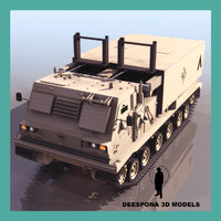 3d model mlrs m270 multiple launch