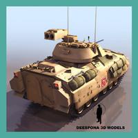 m2 bradley tow infantry 3d model