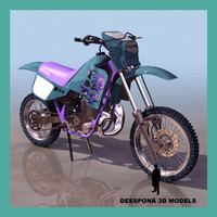 3d model mjÖlnir 125 motocross trial