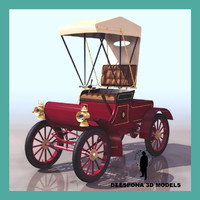 olds mobile curved dash 3d model