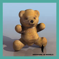 3d model brown teddy bear