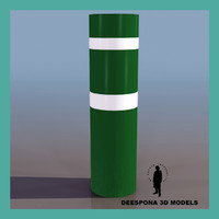 3d model plastic highway protection post