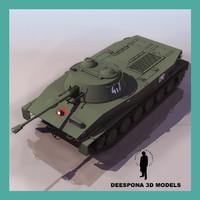 3d model pt 76 russian soviet