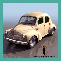 renault 4cv french popular 3d max