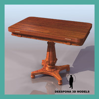 rosewood card table 1835 3d max
