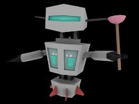 3ds max character robot