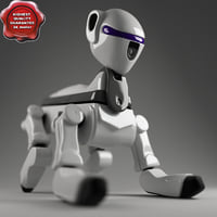 robot dog modelled 3d model