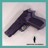 3d sig-sauer 266 pistol model
