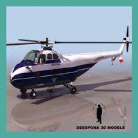 3dsmax sabena 55 passenger helicopter
