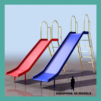 children slide apparatus 3d model