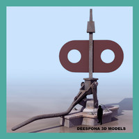 3d switches-control train rail signal model