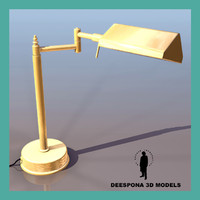 bureau table lamp 3d model