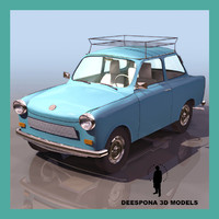 3d trabant 601s 1950 german