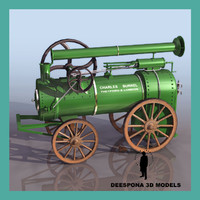 3ds max vintage vapor tractor public