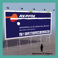 3d model european highway ad