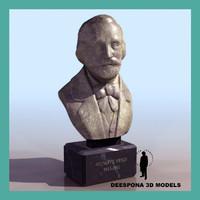 3d giusseppe verdi sculpture bust
