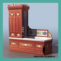 3d model victorian bath