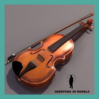 3ds max violin musical instrument