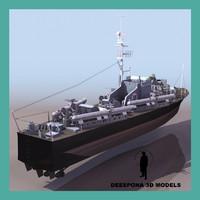 3d vosper 73 foot motor model