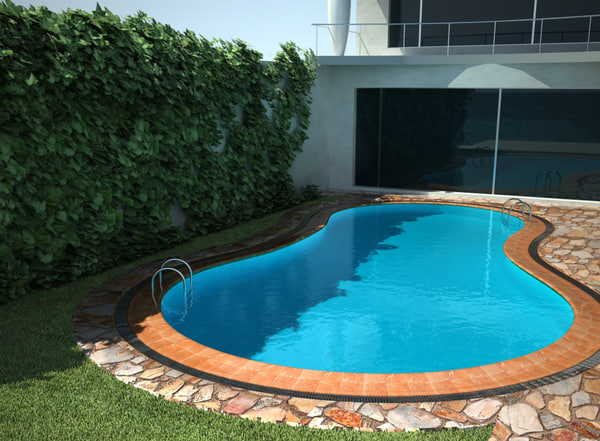 3ds max villa pool for Pool design 974