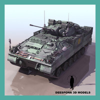3ds max warrior infantry fighting vehicle