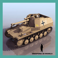 sdkfz 124 wespe german tank max