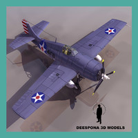 grumman f4f 4 wildcat 3d model