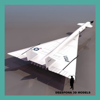 3d model north american aviation xb-70 valkyrie