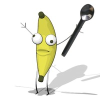 free banana man bananaman 3d model