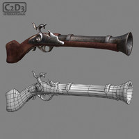 blunderbuss pirate 3d model