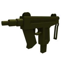 3ds max compact submachine gun