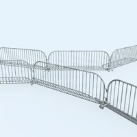 crowd barricade 3d max