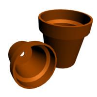 3d flowerpots