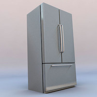 two-door refrigerator freezer 3d c4d