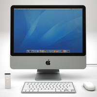 3d apple imac 4 wireless