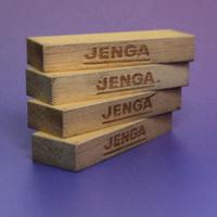 jenga bricks 3d model