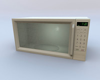 Microwave oven with door that opens