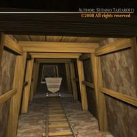 cave carts 3d model