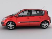 renault scenic car 3d fbx