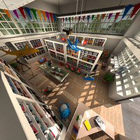 3ds max toy shop interior