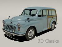 morris traveller car 3d model